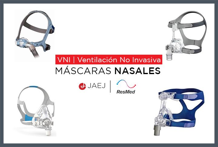 Las máscaras nasales de ResMed mantienen el diseño minimalista de las máscaras con almohadillas nasales pero ofrecen algo más de cobertura en la nariz.