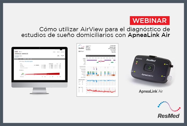 """""""Cómo utilizar AirView para el diagnóstico de estudios de sueño domiciliarios con ApneaLink Air"""