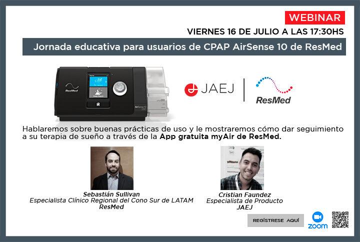 Jornada educativa para usuarios de CPAP AirSense 10 de ResMed
